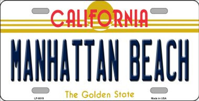 Manhattan Beach CA Novelty Metal License Plate