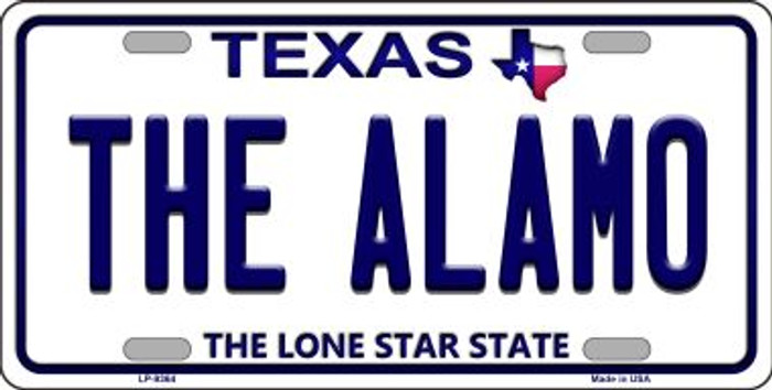 Alamo Texas Background Novelty Metal License Plate