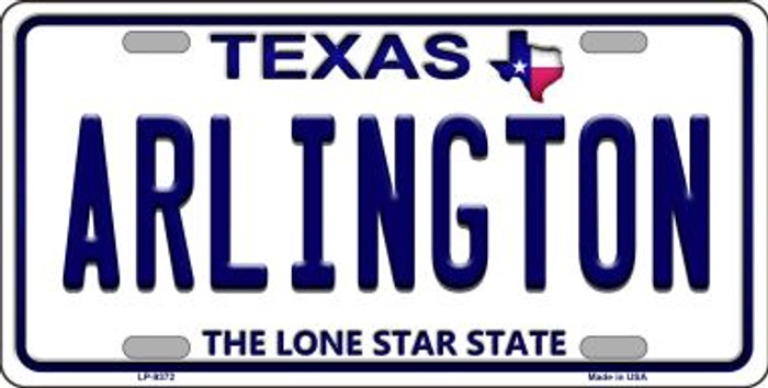 Arlington Texas Background Novelty Metal License Plate