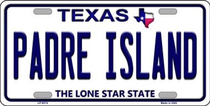 Padre Island Texas Background Novelty Metal License Plate