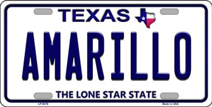 Amarillo Texas Background Novelty Metal License Plate
