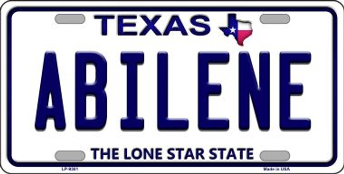 Abilene Texas Background Novelty Metal License Plate