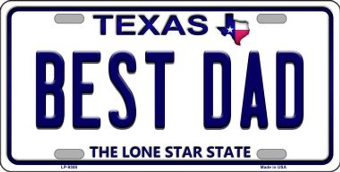 Best Dad Texas Background Novelty Metal License Plate