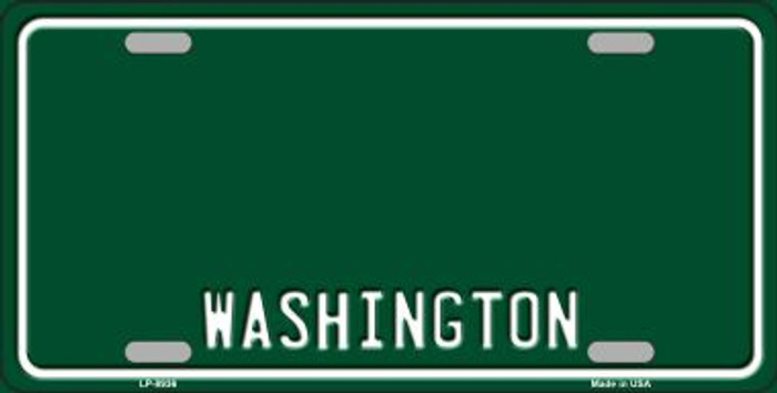 Washington Green Background Novelty Metal License Plate