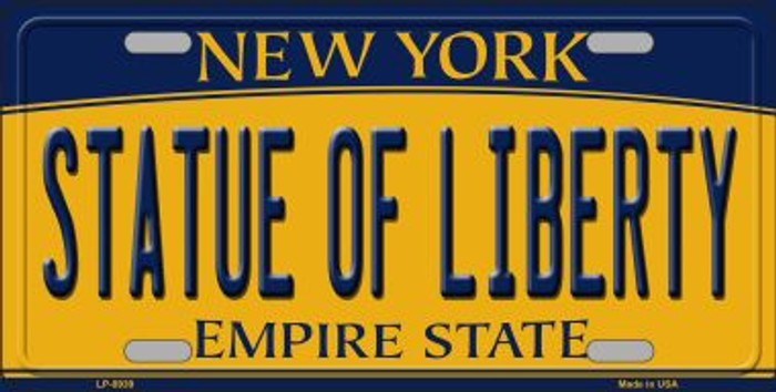 Statue of Liberty New York Background Novelty Metal Novelty License Plate