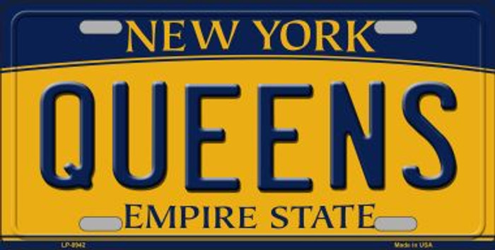 Queens New York Background Novelty Metal License Plate