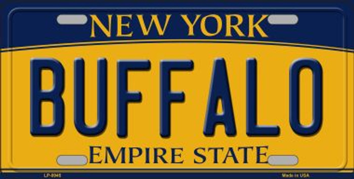 Buffalo New York Background Novelty Metal License Plate