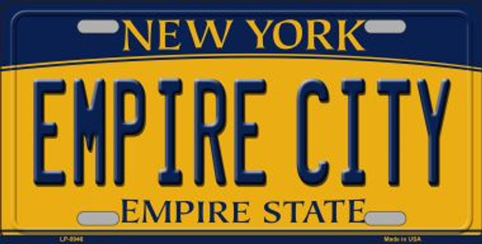 Empire City New York Background Novelty Metal License Plate