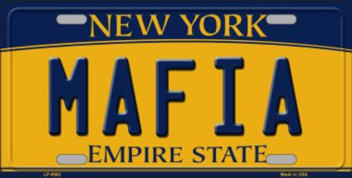 Mafia New York Background Novelty Metal License Plate