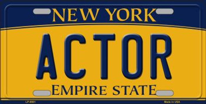 Actor New York Background Novelty Metal License Plate