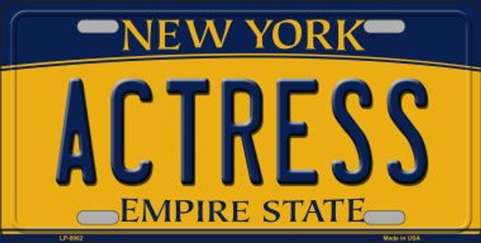 Actress New York Background Novelty Metal License Plate