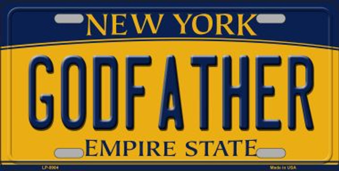 Godfather New York Background Novelty Metal License Plate