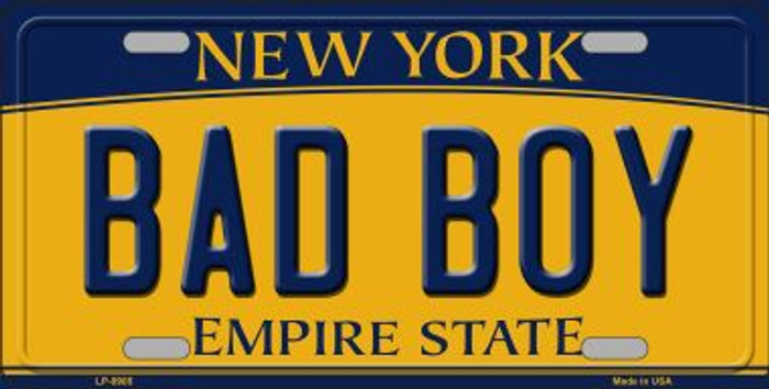 Bad Boy New York Background Novelty Metal License Plate