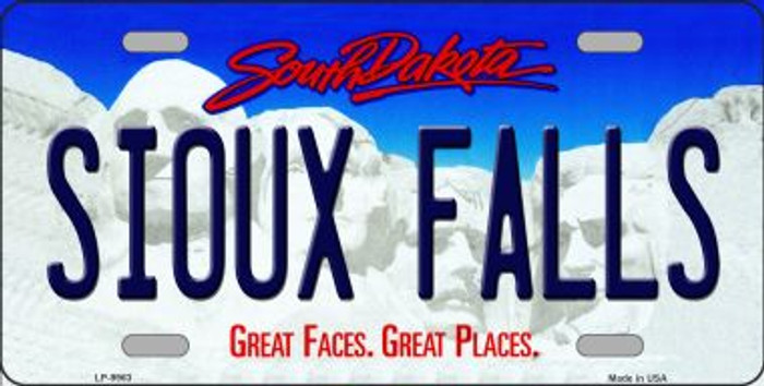 Sioux Falls South Dakota Background Novelty Metal License Plate
