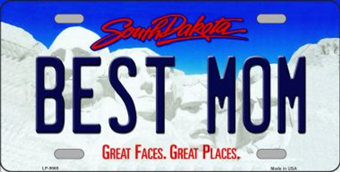 Best Mom South Dakota Background Novelty Metal License Plate