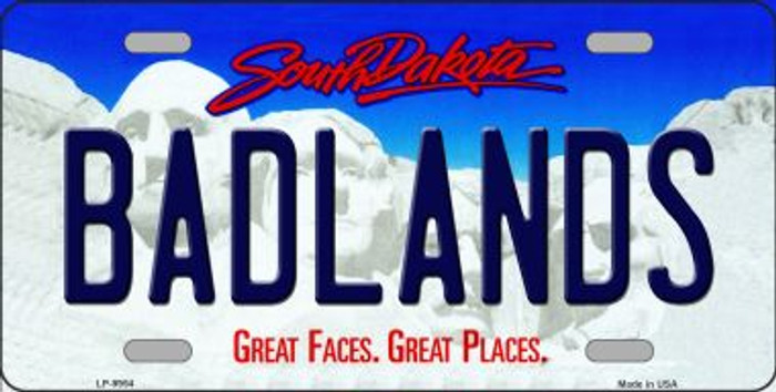 Badlands South Dakota Background Novelty Metal License Plate