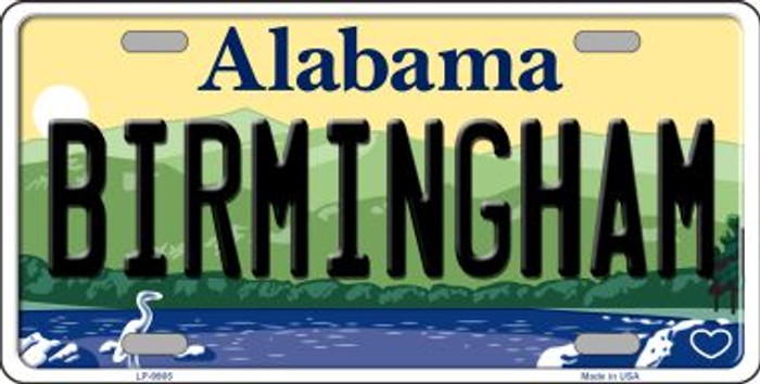 Birmingham Alabama Background Novelty Metal License Plate