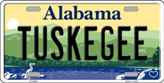 Tuskegee Alabama Background Novelty Metal License Plate