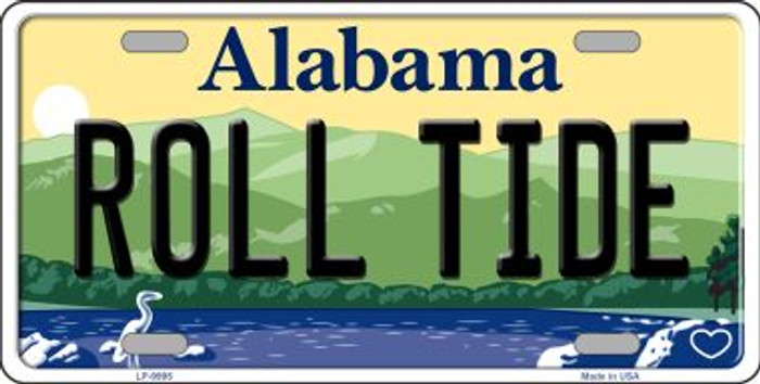 Roll Tide Alabama Background Novelty Metal License Plate
