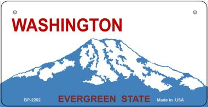 Washington Novelty State Background Bicycle License Plate BP-2262