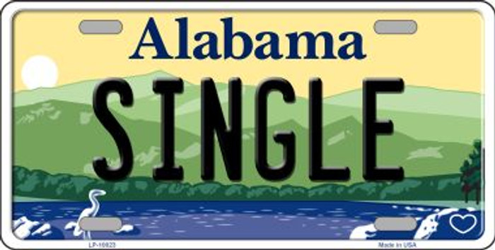Single Alabama Background Novelty Metal License Plate