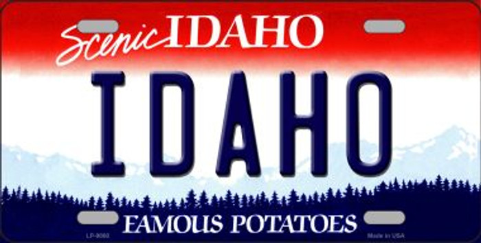 Idaho Background Novelty Metal License Plate