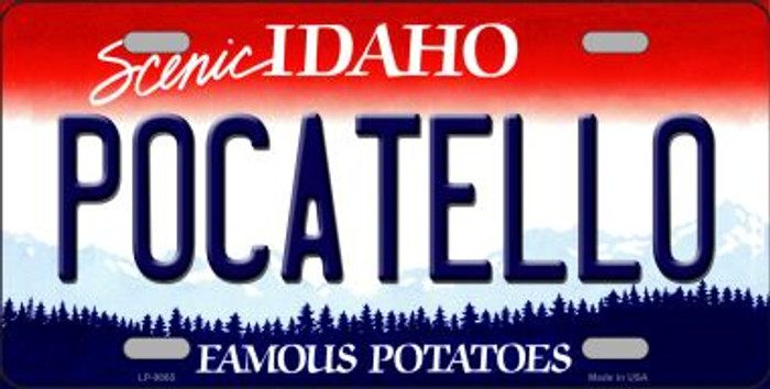 Pocatello Idaho Background Novelty Metal License Plate
