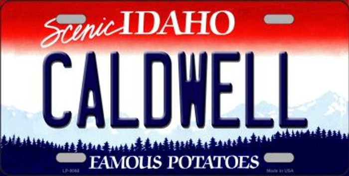 Caldwell Idaho Background Novelty Metal License Plate