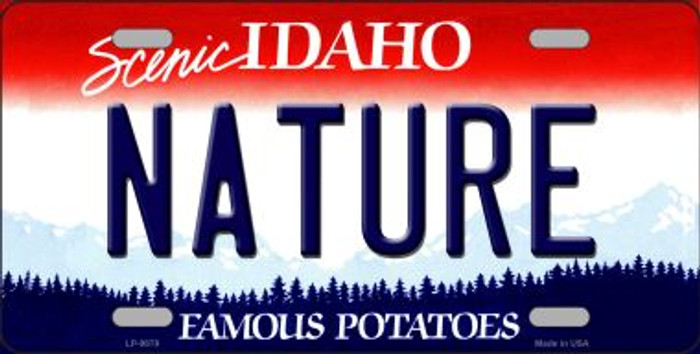 Nature Idaho Background Novelty Metal License Plate