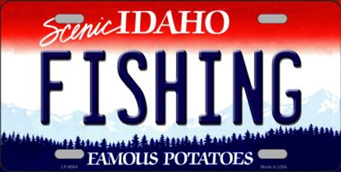 Fishing Idaho Background Novelty Metal License Plate