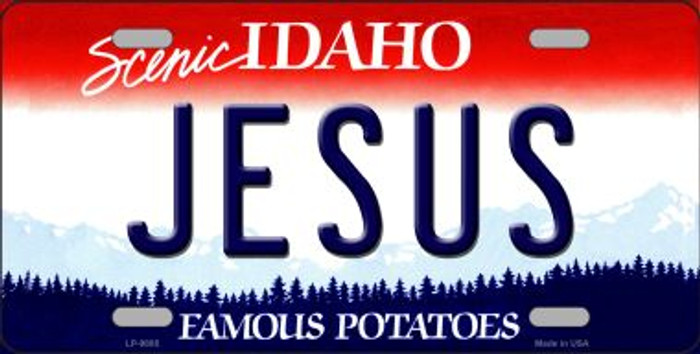 Jesus Idaho Background Novelty Metal License Plate