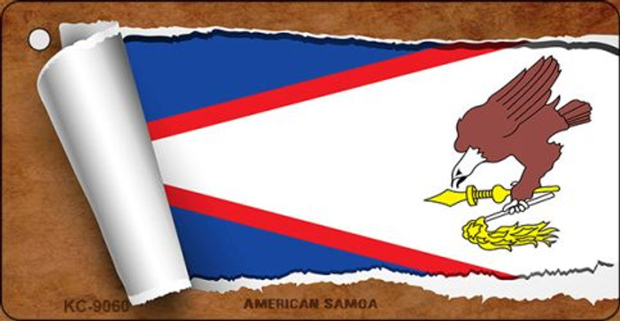 American Samoa Flag Scroll Novelty Key Chain