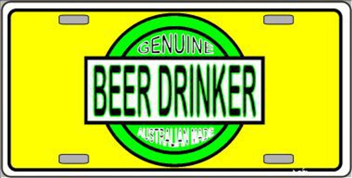 Beer Metal Novelty License Plate