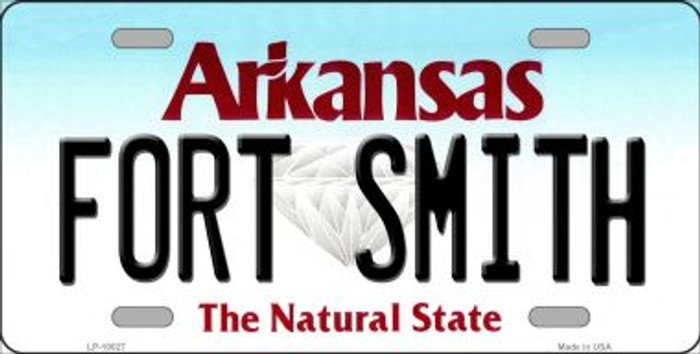 Fort Smith Arkansas Background Novelty Metal License Plate
