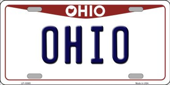 Ohio Background Novelty Metal License Plate
