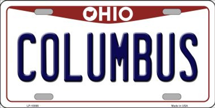 Columbus Ohio Background Novelty Metal License Plate