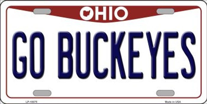 Go Buckeyes Ohio Background Novelty Metal License Plate