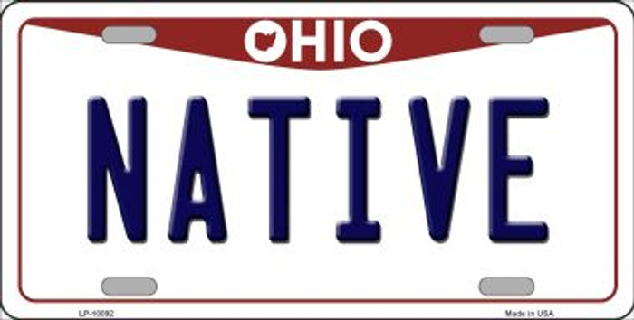 Native Ohio Background Novelty Metal License Plate