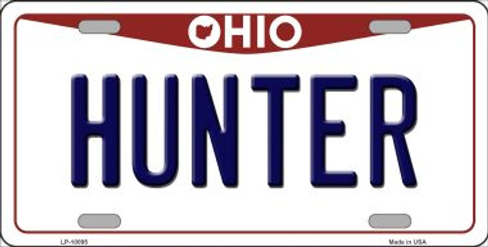 Hunter Ohio Background Novelty Metal License Plate