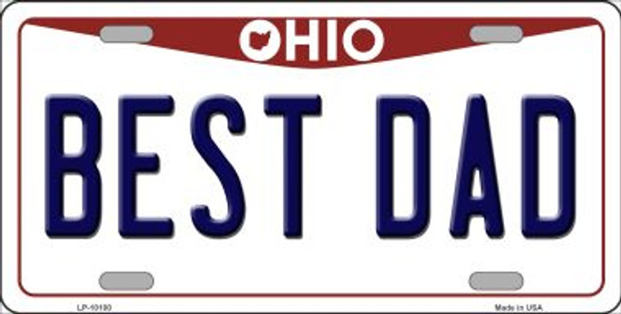 Best Dad Ohio Background Novelty Metal License Plate