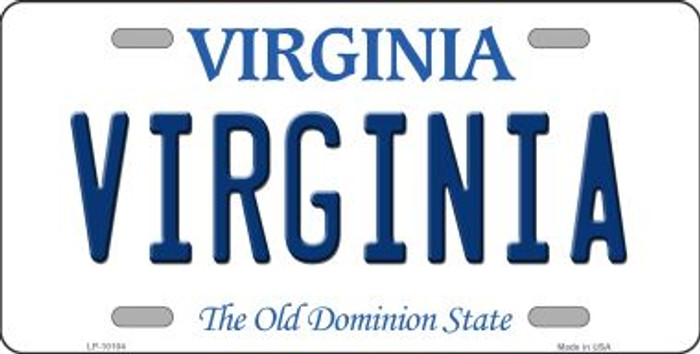Virginia Background Novelty Metal License Plate