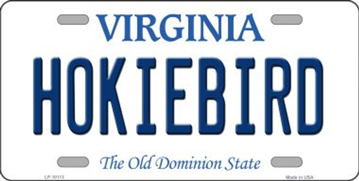 Hokiebird Virginia Background Novelty Metal License Plate