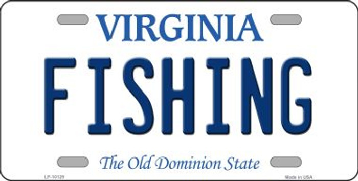 Fishing Virginia Background Novelty Metal License Plate