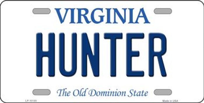 Hunter Virginia Background Novelty Metal License Plate