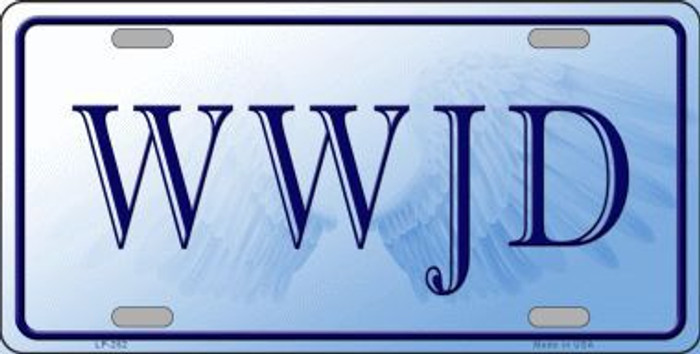 WWJD Metal Novelty License Plate