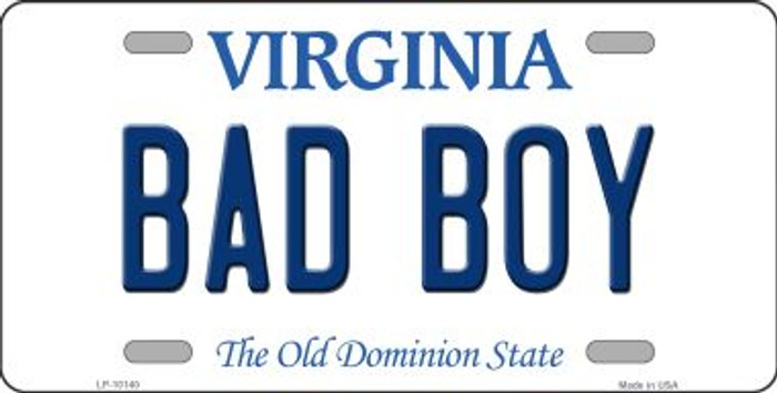 Bad Boy Virginia Background Novelty Metal License Plate