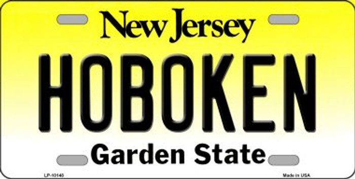 Hoboken New Jersey Background Novelty Metal License Plate