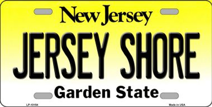 Jersey Shore New Jersey Background Novelty Metal License Plate