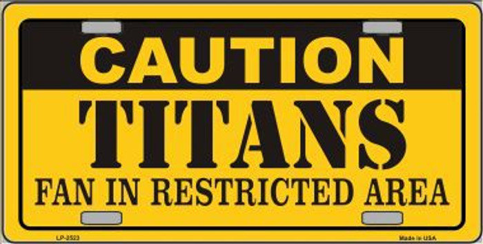 Caution Titans Metal Novelty License Plate