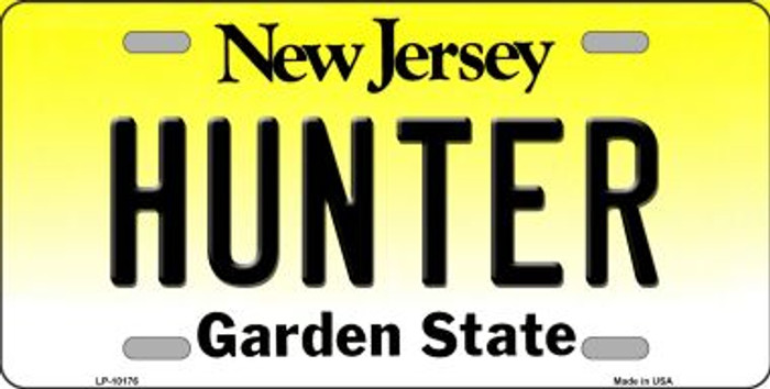 Hunter New Jersey Background Novelty Metal License Plate